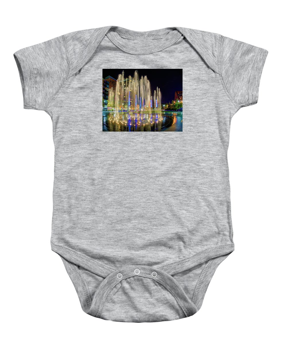 Rose Kennedy Baby Onesie featuring the photograph Kennedy Greenway 2636 by Jeff Stallard