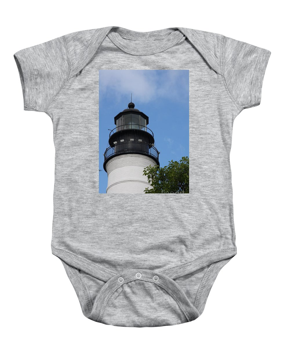 Lighthouse Baby Onesie featuring the photograph Key West Light by Christiane Schulze Art And Photography