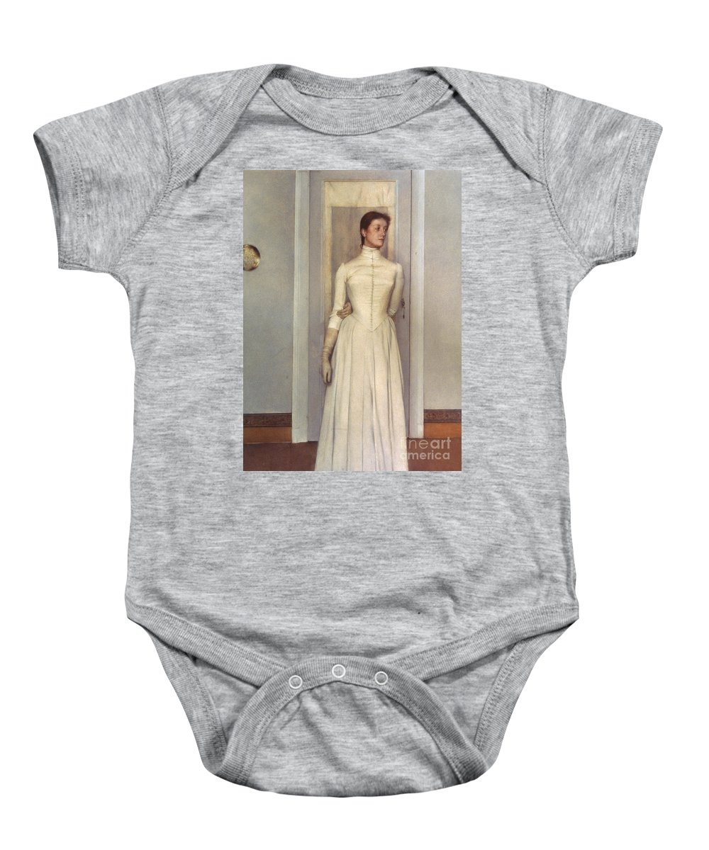 1887 Baby Onesie featuring the photograph Khnopff: Sister, 1887 by Granger