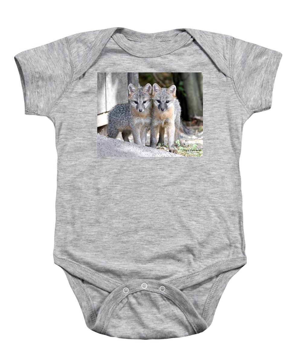 Kit Fox Baby Onesie featuring the photograph Kit Fox6 by Torie Tiffany