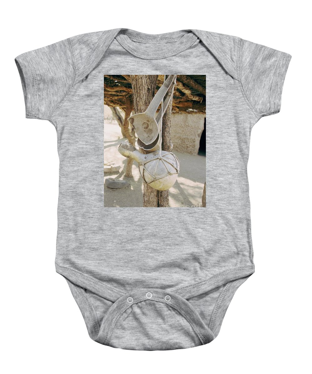 Tumacacori Baby Onesie featuring the photograph Kitchen Utensils by Kathy McClure