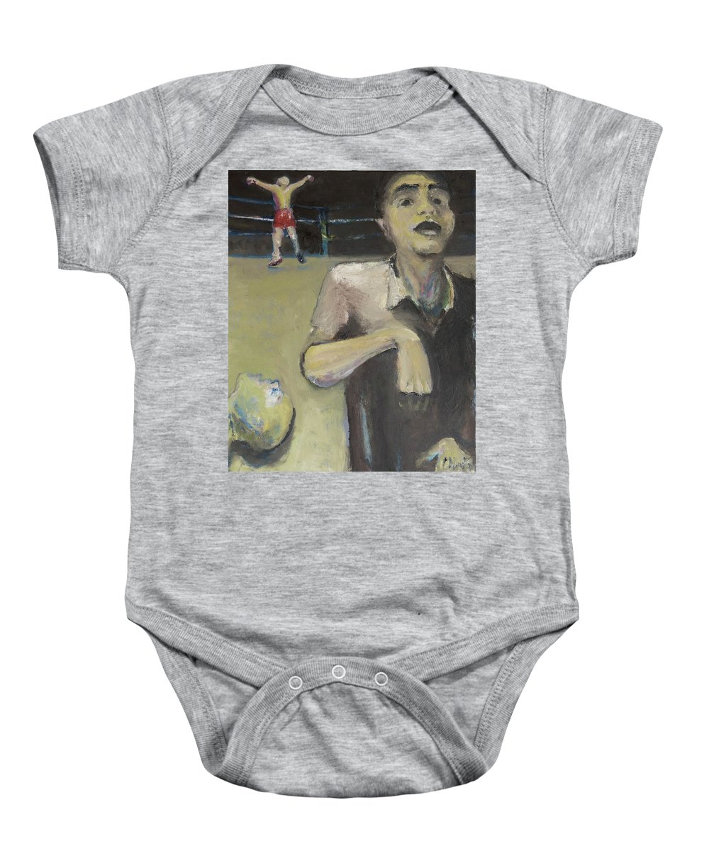 Boxing Baby Onesie featuring the painting Knock Out by Craig Newland