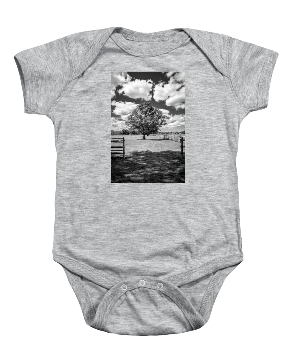 Landscape Baby Onesie featuring the photograph Knox Estate by Jay Wollin