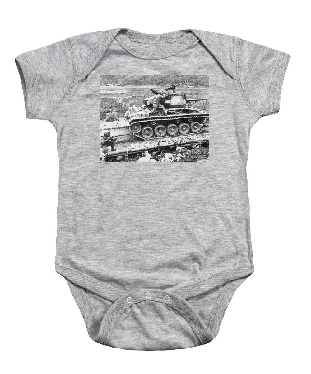 1951 Baby Onesie featuring the photograph Korean War, 1951 by Granger