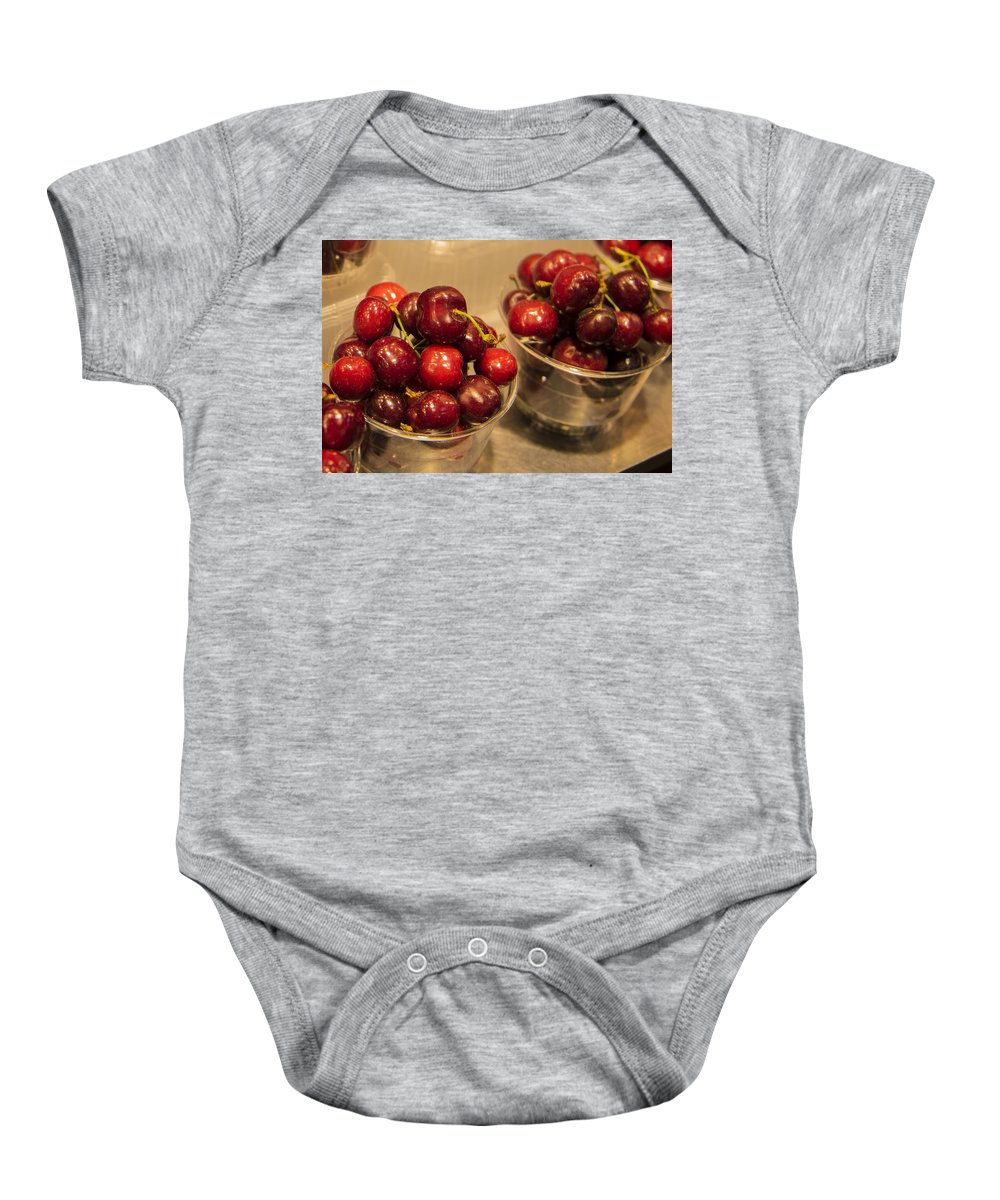 Barcelona Baby Onesie featuring the photograph La Bouqueria - Barcelona Spain by Jon Berghoff