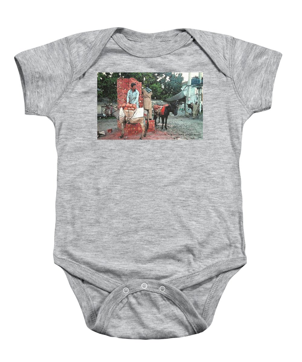 Expressive Baby Onesie featuring the photograph Labor Day by Lenore Senior