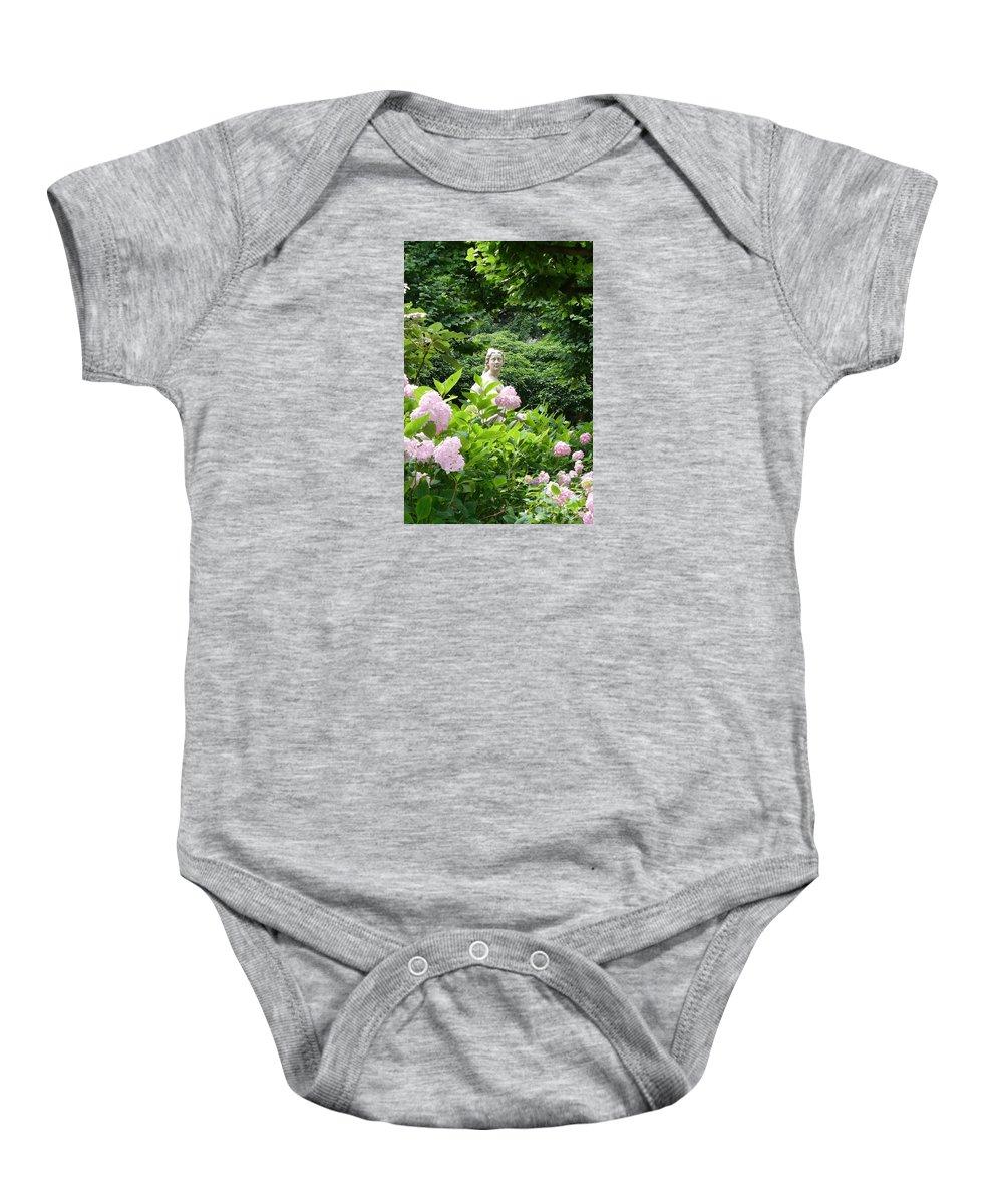 Garden Baby Onesie featuring the photograph Lady In Salzburg Garden by Carol Groenen