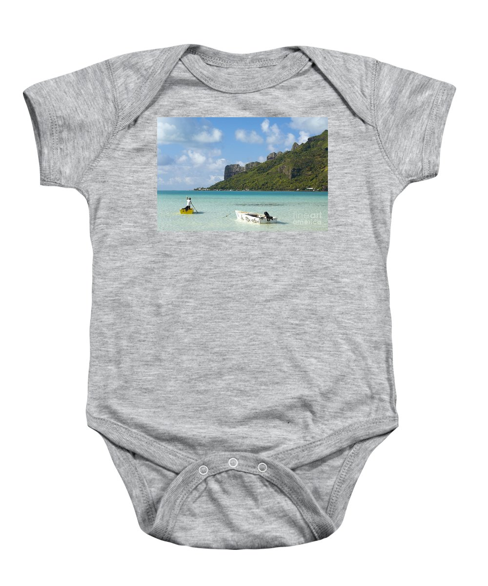 Beautiful Baby Onesie featuring the photograph Lagoon At Maupiti by Kyle Rothenborg - Printscapes
