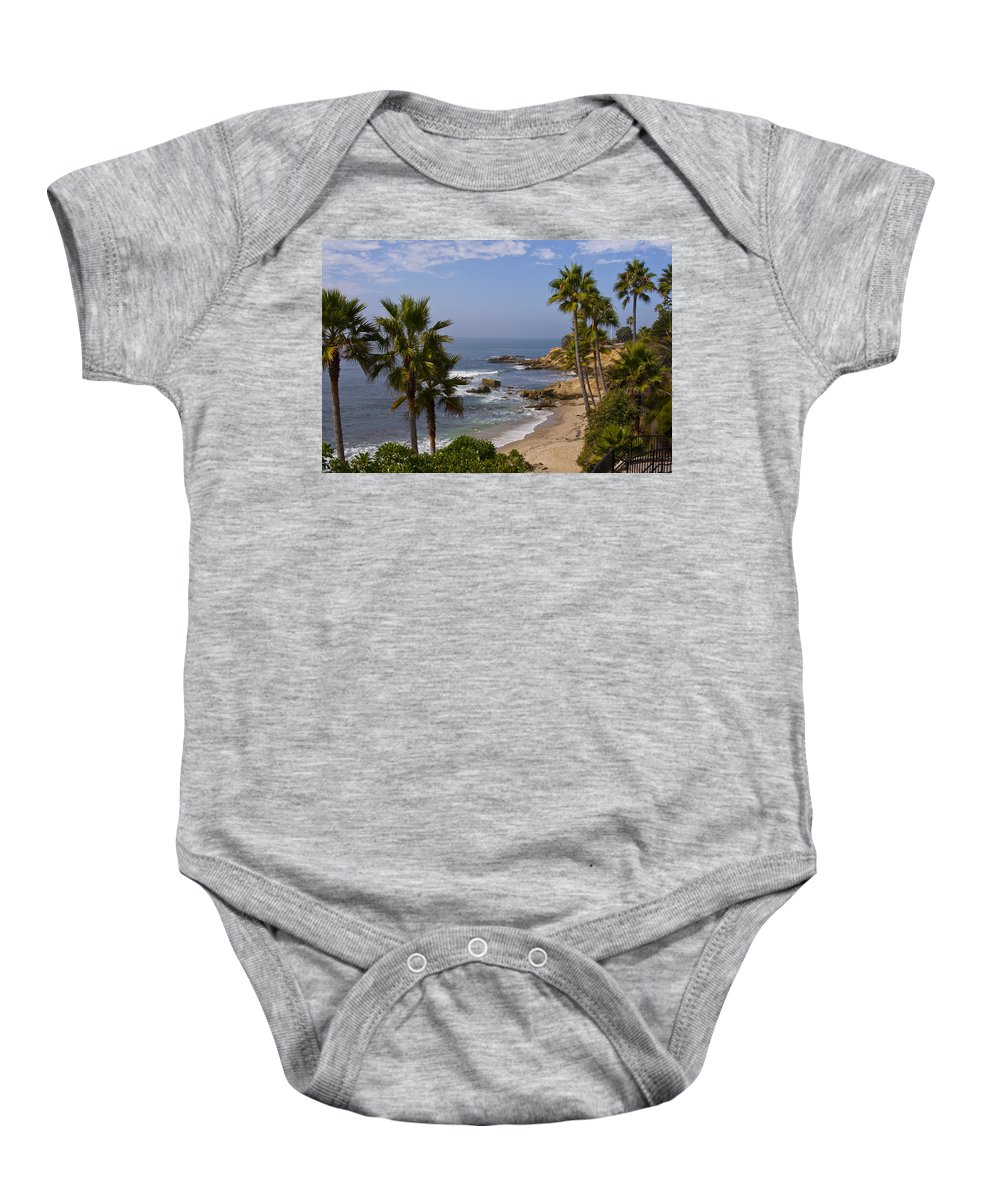 Laguna Baby Onesie featuring the photograph Laguna Beach Coastline by Lou Ford