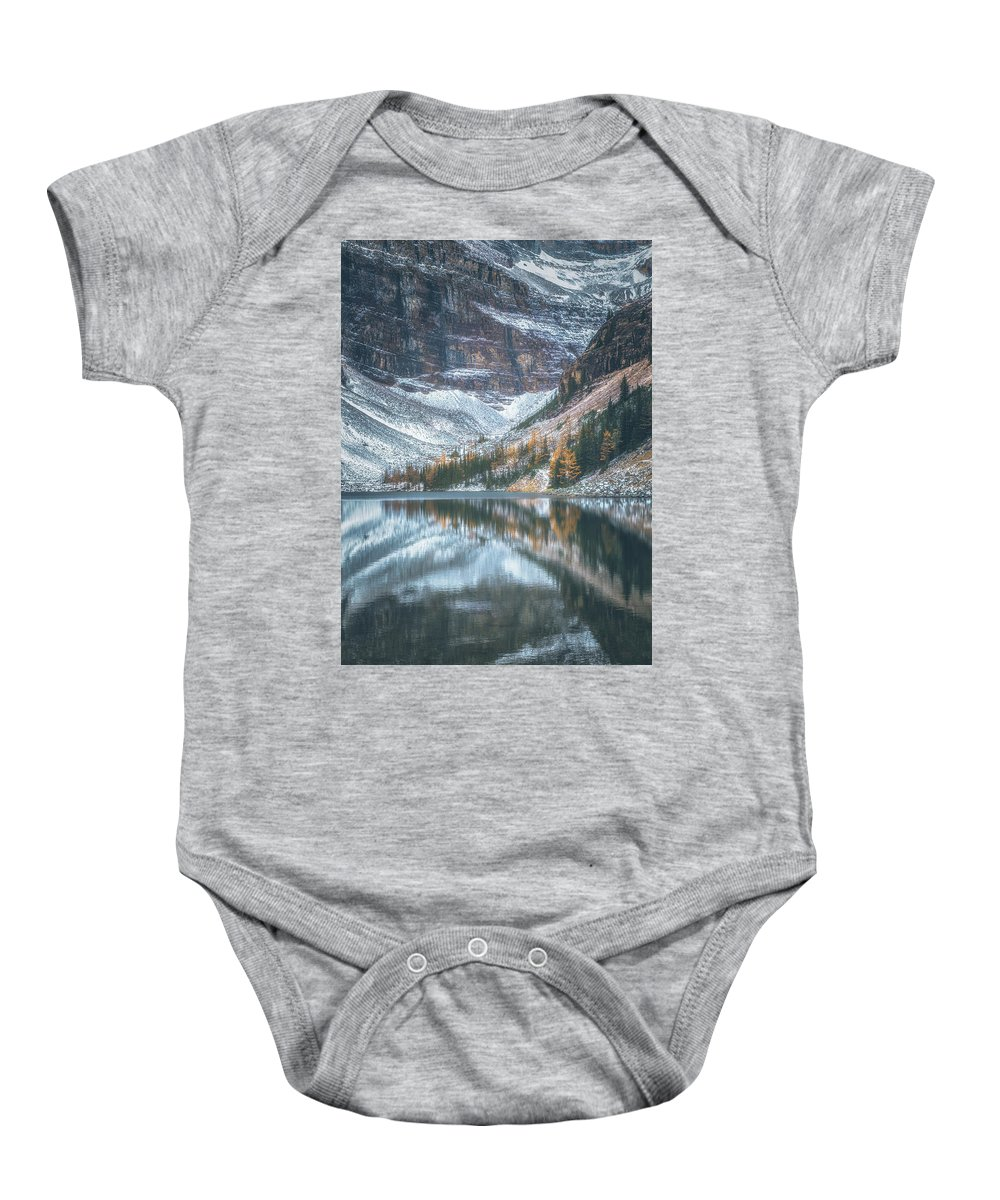 Alberta Baby Onesie featuring the photograph Lake Agnes No 4 by Chris Fletcher