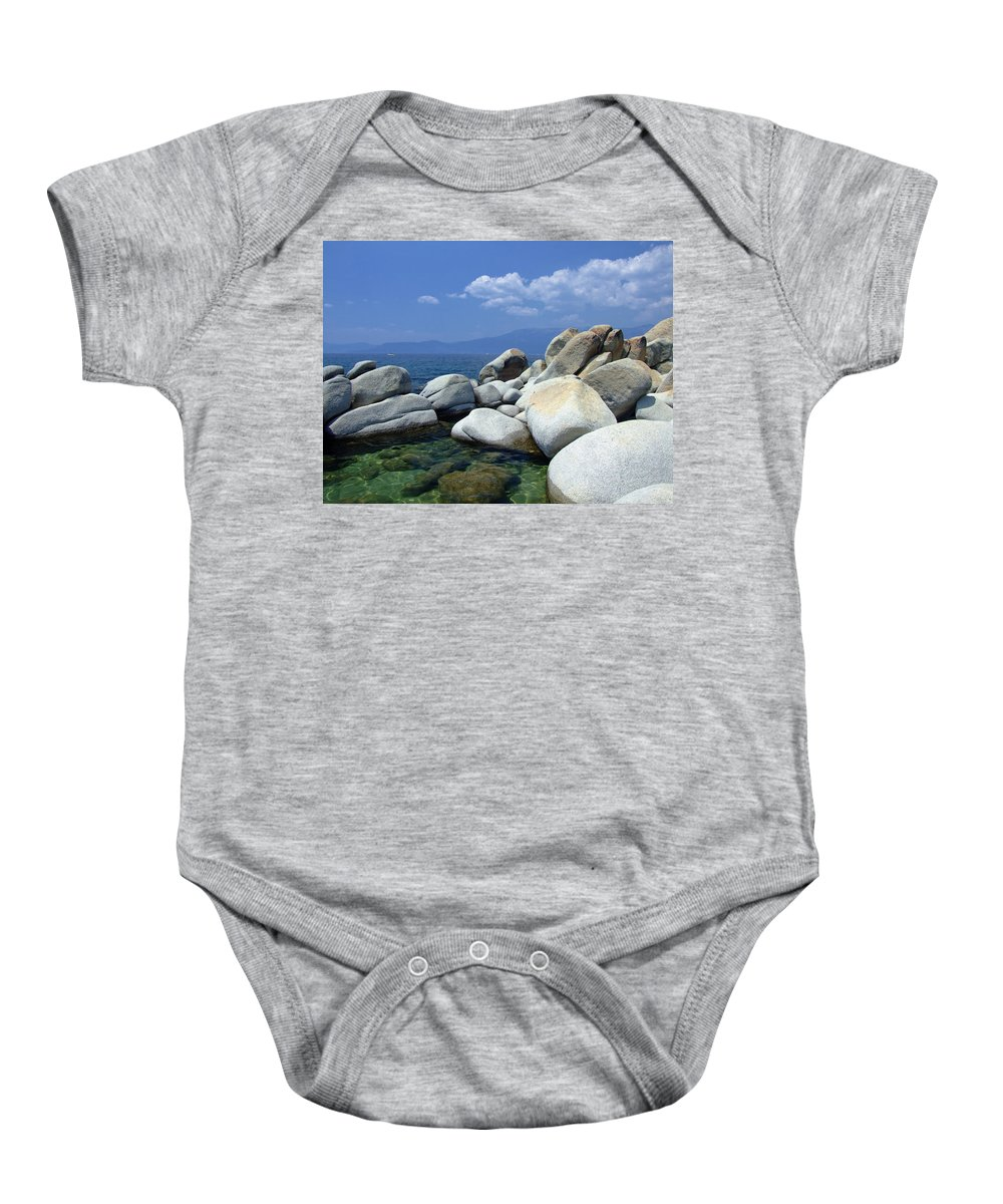 Lake Tahoe Baby Onesie featuring the photograph Lake Tahoe by Donna Blackhall