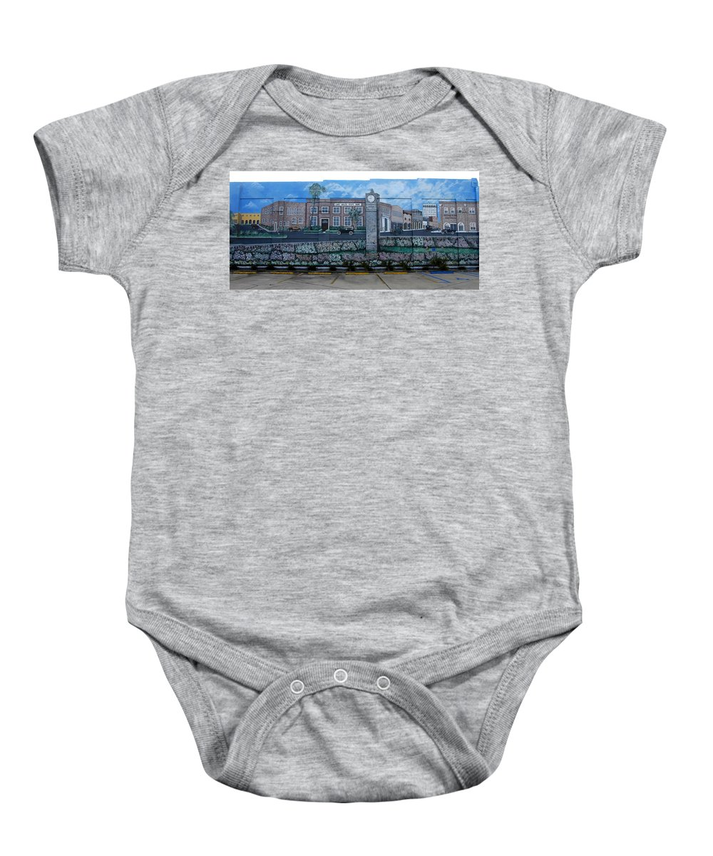 Photography Baby Onesie featuring the photograph Lake Wales Florida Mural by David Lee Thompson