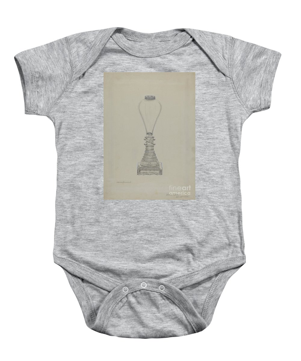 Baby Onesie featuring the drawing Lamp by John Dana