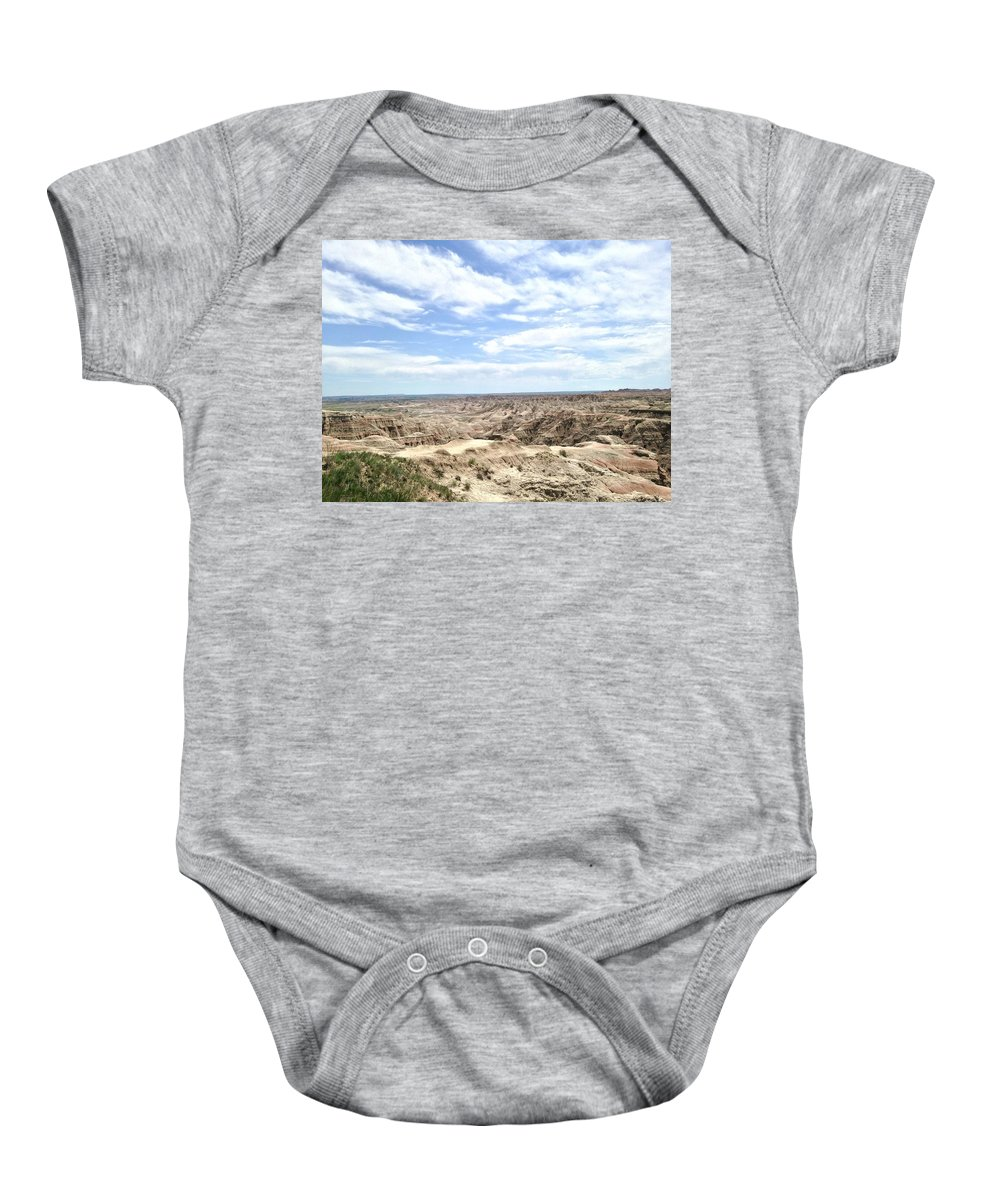 Landscape Baby Onesie featuring the photograph Badland by Renee Giegoldt