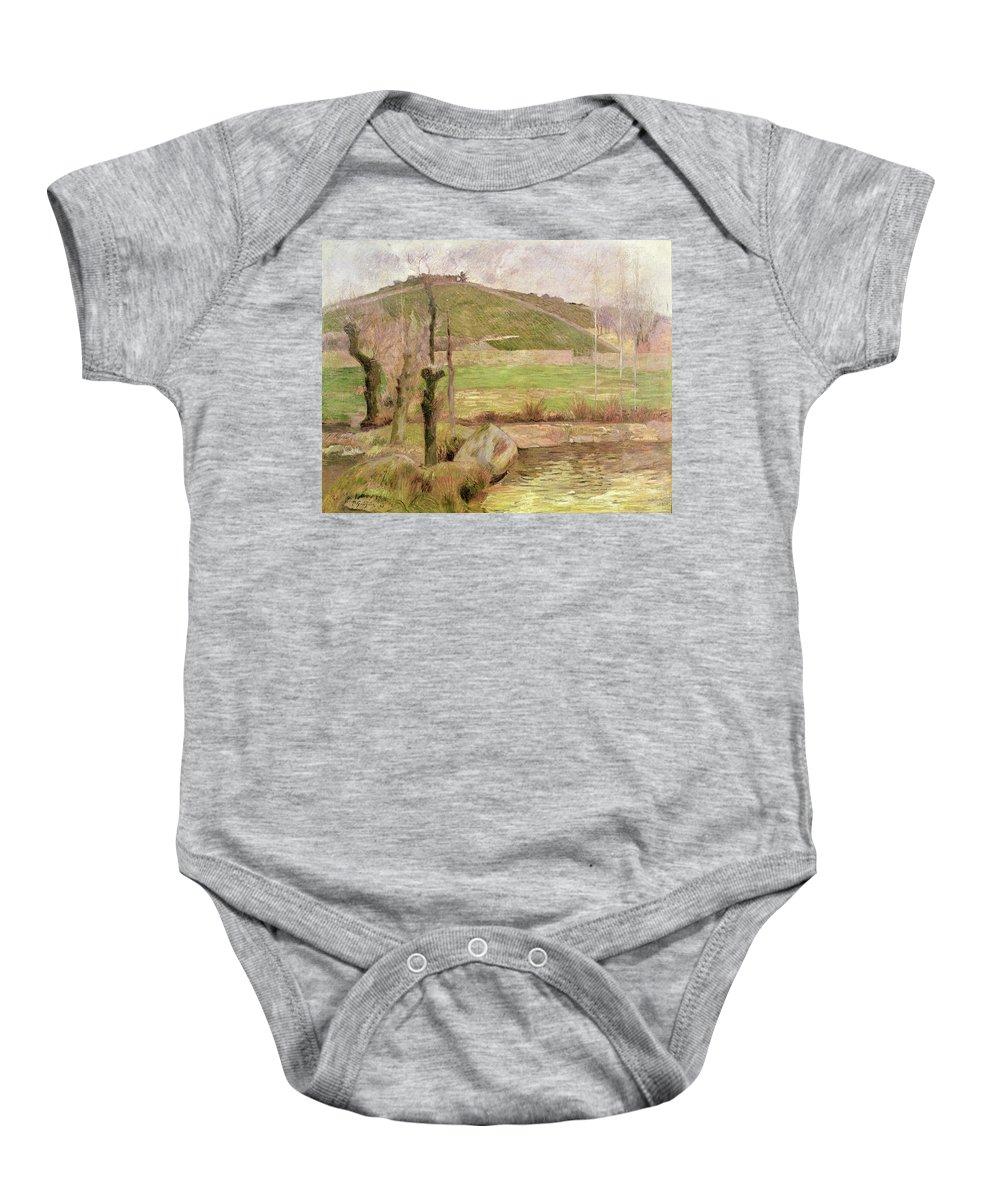 Landscape Near Pont-aven Baby Onesie featuring the painting Landscape Near Pont Aven by Paul Gauguin