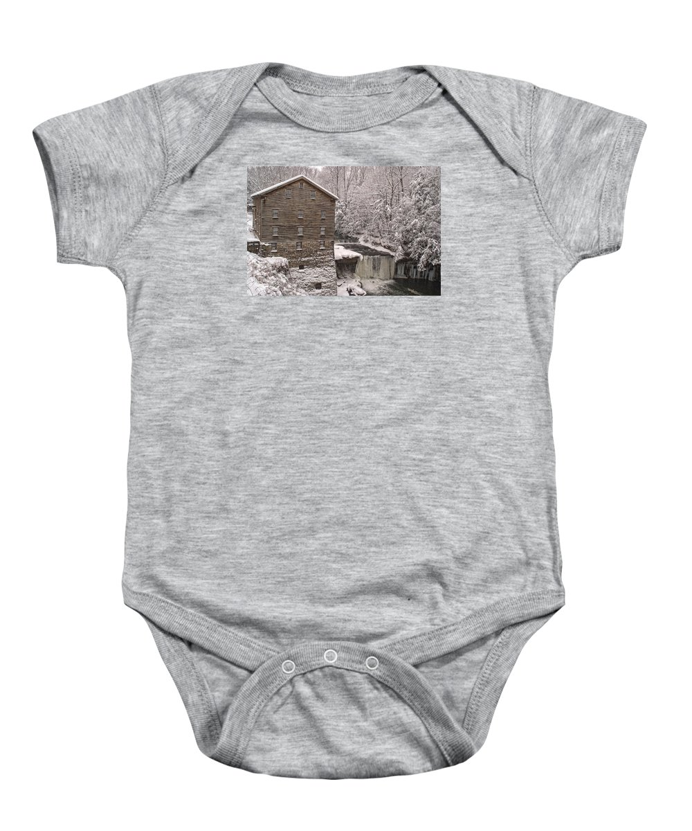 Lanterman's Mill Baby Onesie featuring the photograph Lanterman's Mill by Michael McGowan