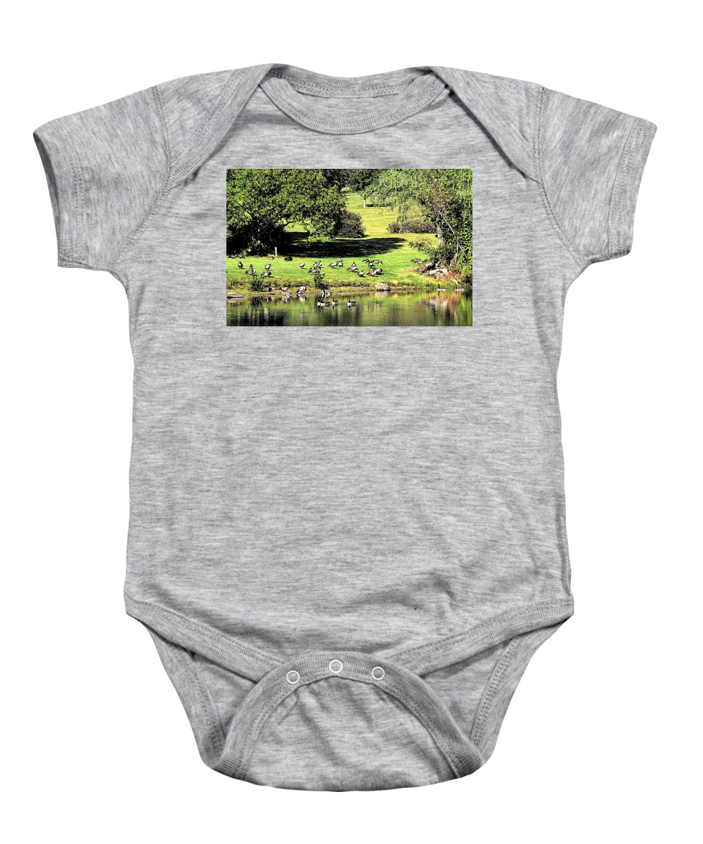 Bird Baby Onesie featuring the photograph Last Days Of Summer by Gaby Swanson