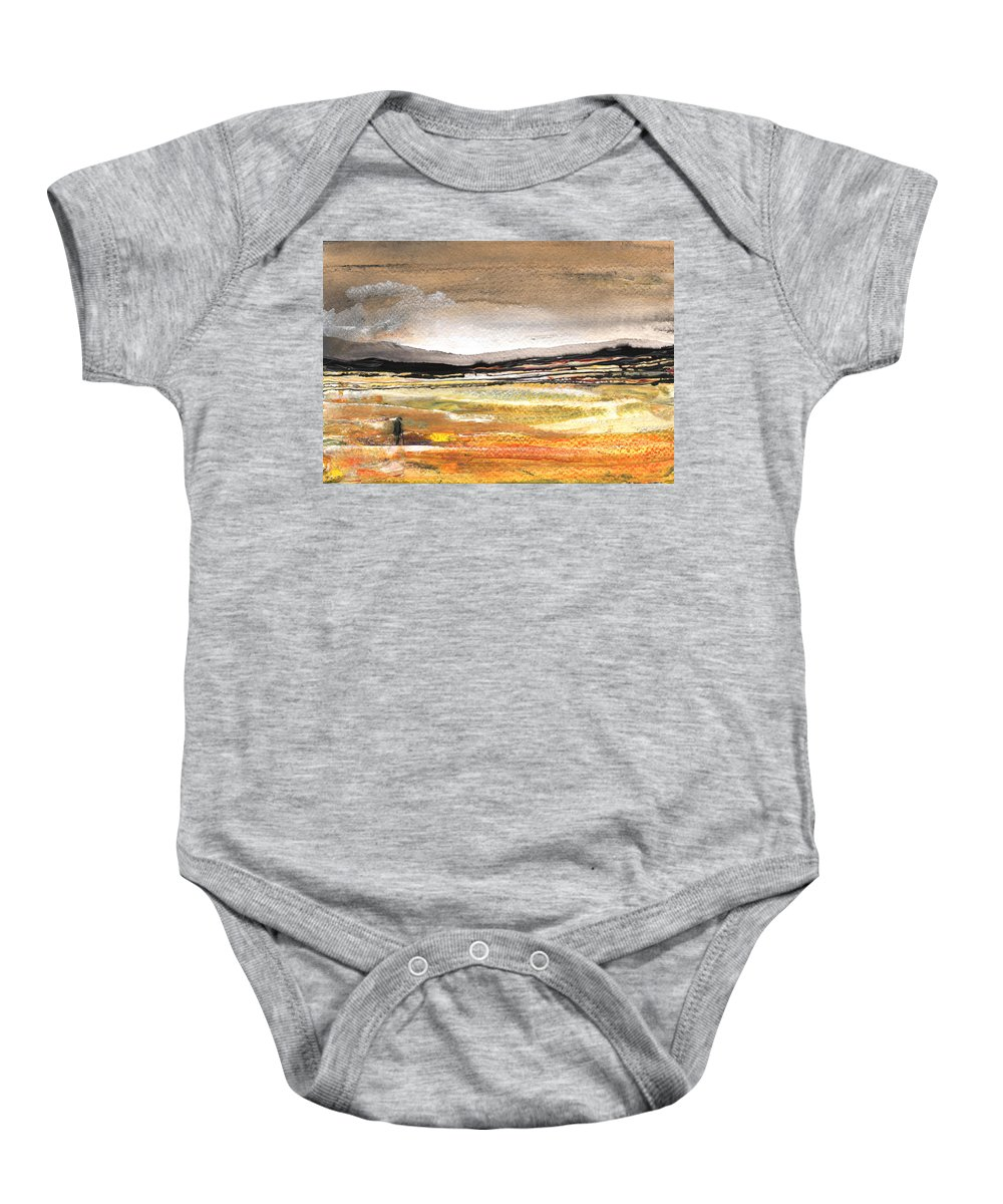 Watercolour Landscape Baby Onesie featuring the painting Late Afternoon 27 by Miki De Goodaboom