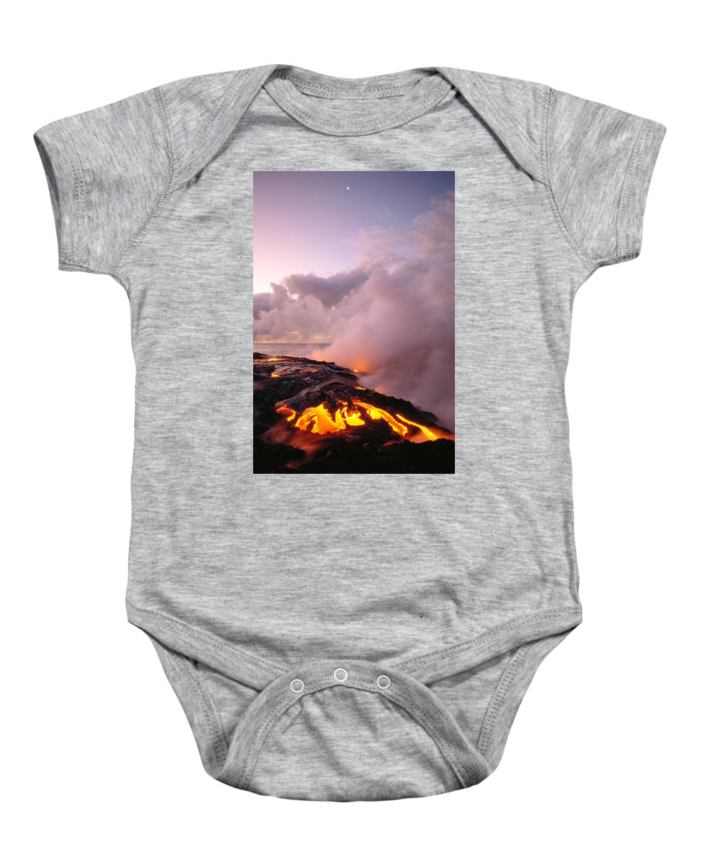 Active Baby Onesie featuring the photograph Lava Flows At Sunrise by Peter French - Printscapes