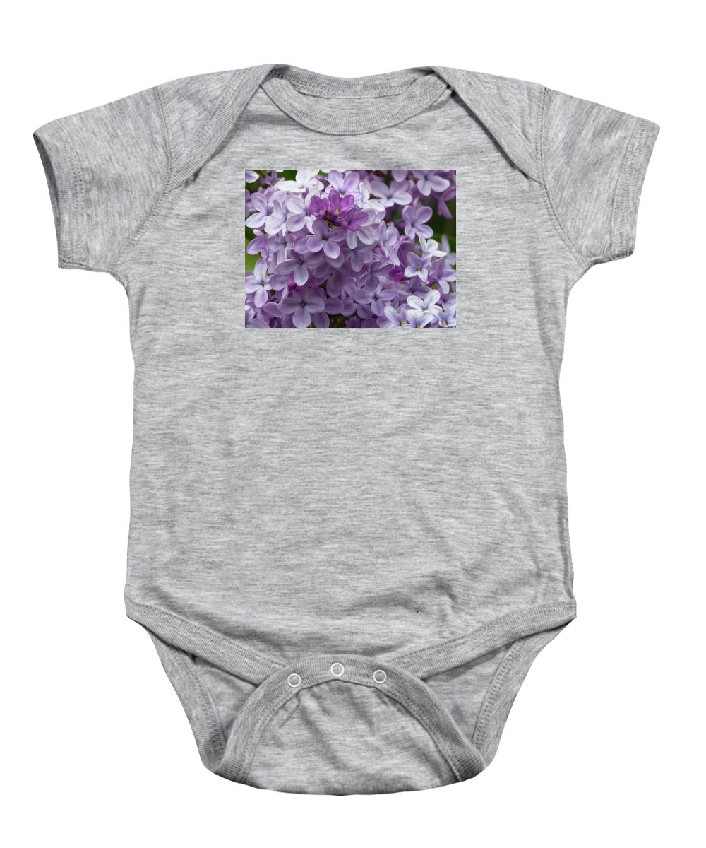 North Dakota Baby Onesie featuring the photograph Lavender Lilacs by Cris Fulton