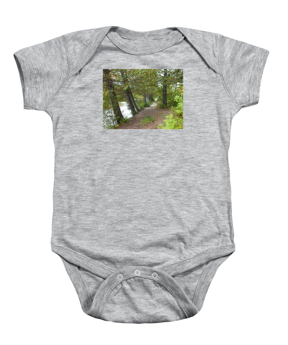Landscape Baby Onesie featuring the photograph Leaning Trees by Patricia Fitz-Gerald