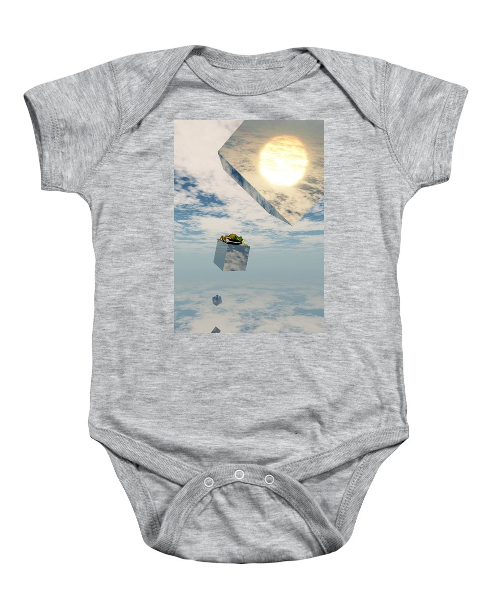 Surrealism Baby Onesie featuring the digital art Leaps And Bounds by Richard Rizzo