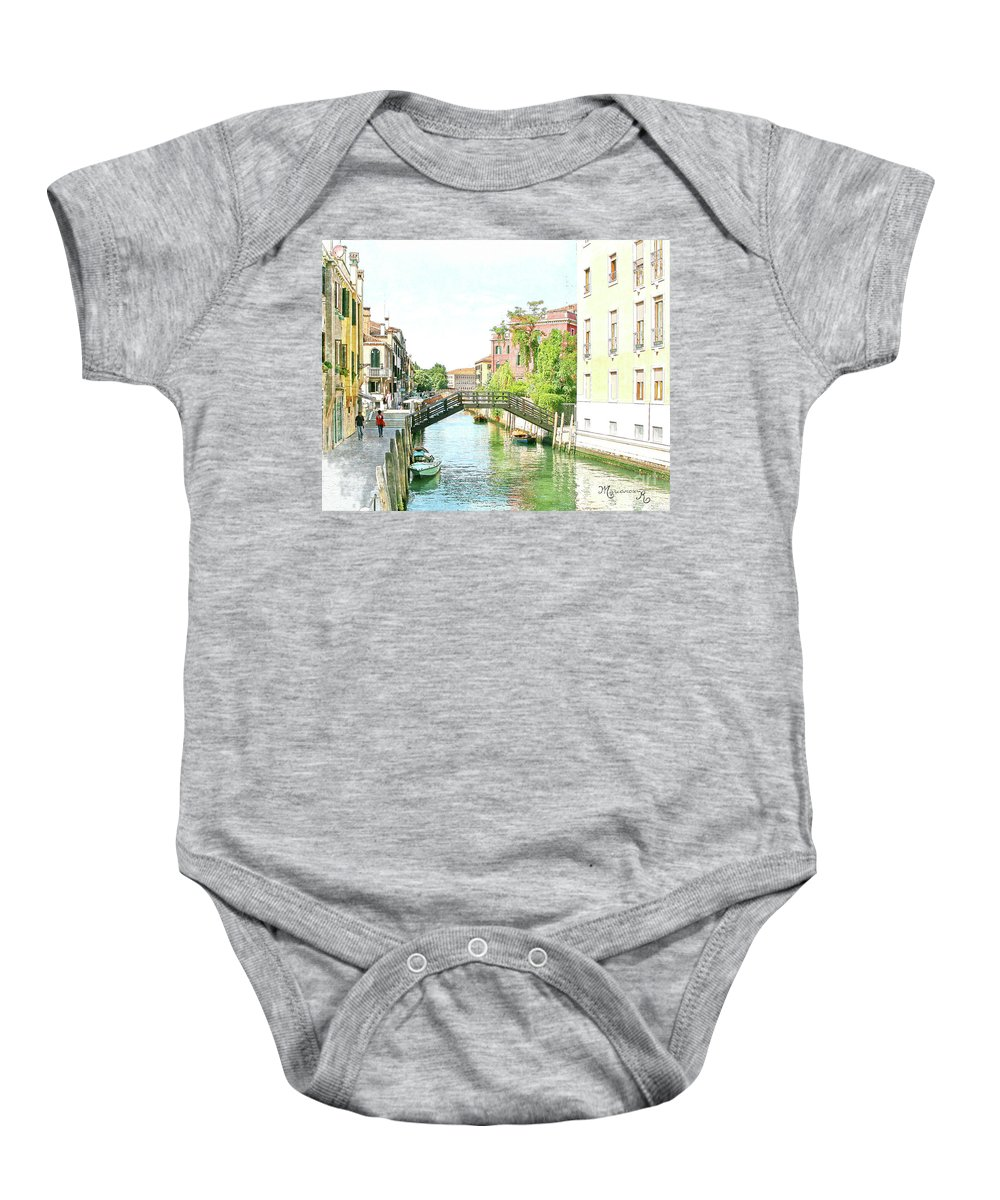 Italy Baby Onesie featuring the digital art Leisurely Afternoon Stroll by Mariarosa Rockefeller