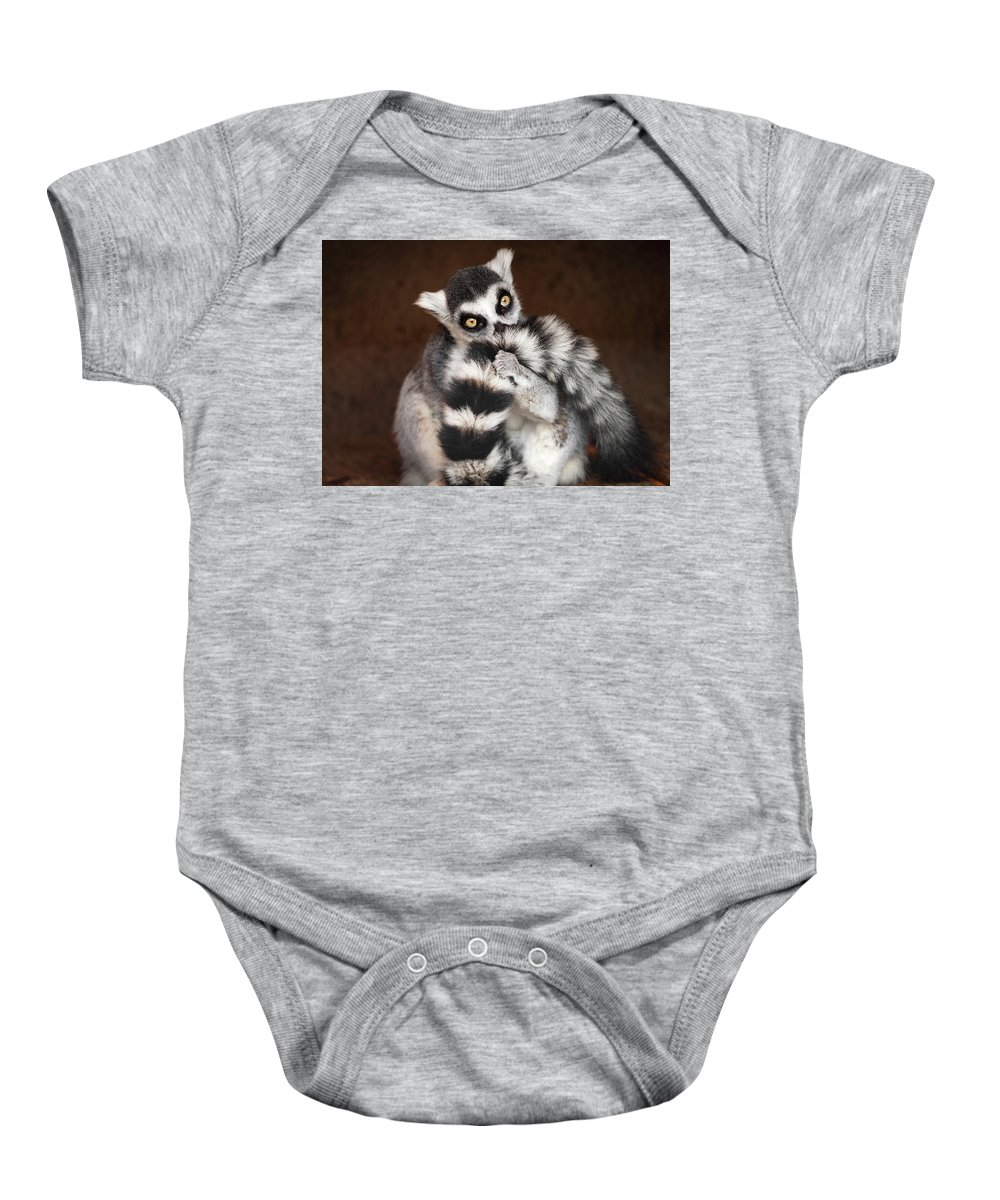 Lemur Baby Onesie featuring the photograph Lemur by David Williams