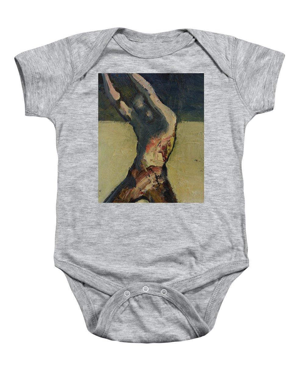 Strong Man Baby Onesie featuring the painting Lethal Weapon by Craig Newland