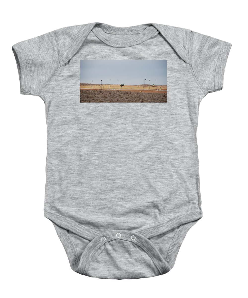 Trackor Baby Onesie featuring the photograph Levels Of Land by Rob Hans
