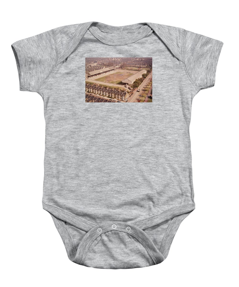 Baby Onesie featuring the photograph Leyton Orient - Brisbane Road - Aerial View 1 - Looking South East by Legendary Football Grounds