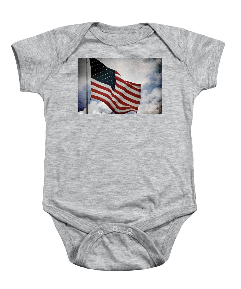 Flag Baby Onesie featuring the photograph Liberty by Scott Pellegrin