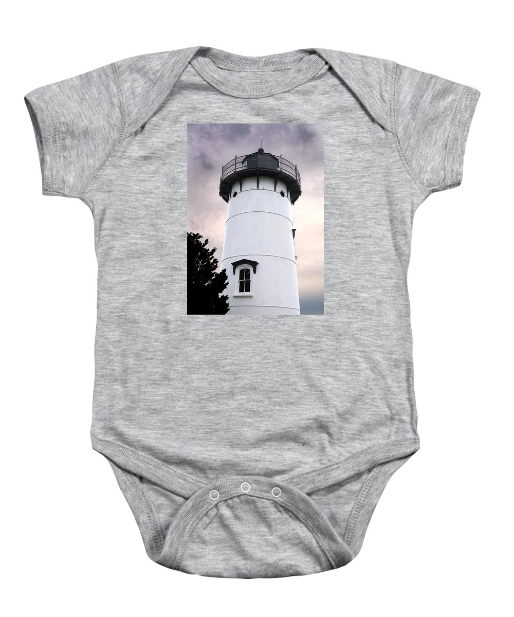 Lighthouse Baby Onesie featuring the photograph Lighthouse by Bernard Fairclough