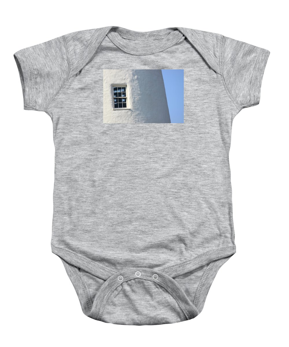 Lighthouse Baby Onesie featuring the photograph Lighthouse Lookout by Bev Veals