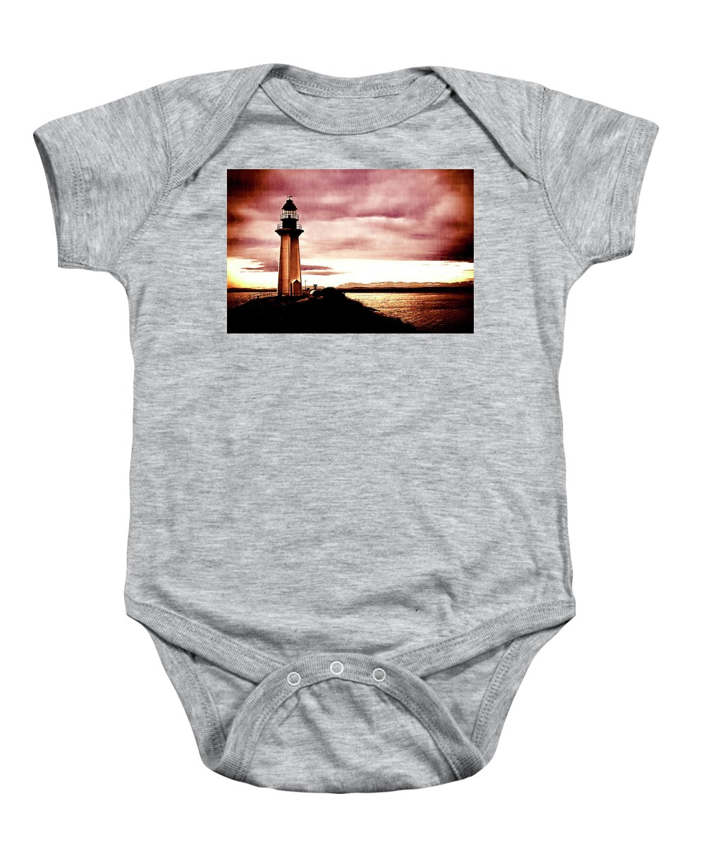 Digital Baby Onesie featuring the photograph Lighthouse Park by Monte Arnold