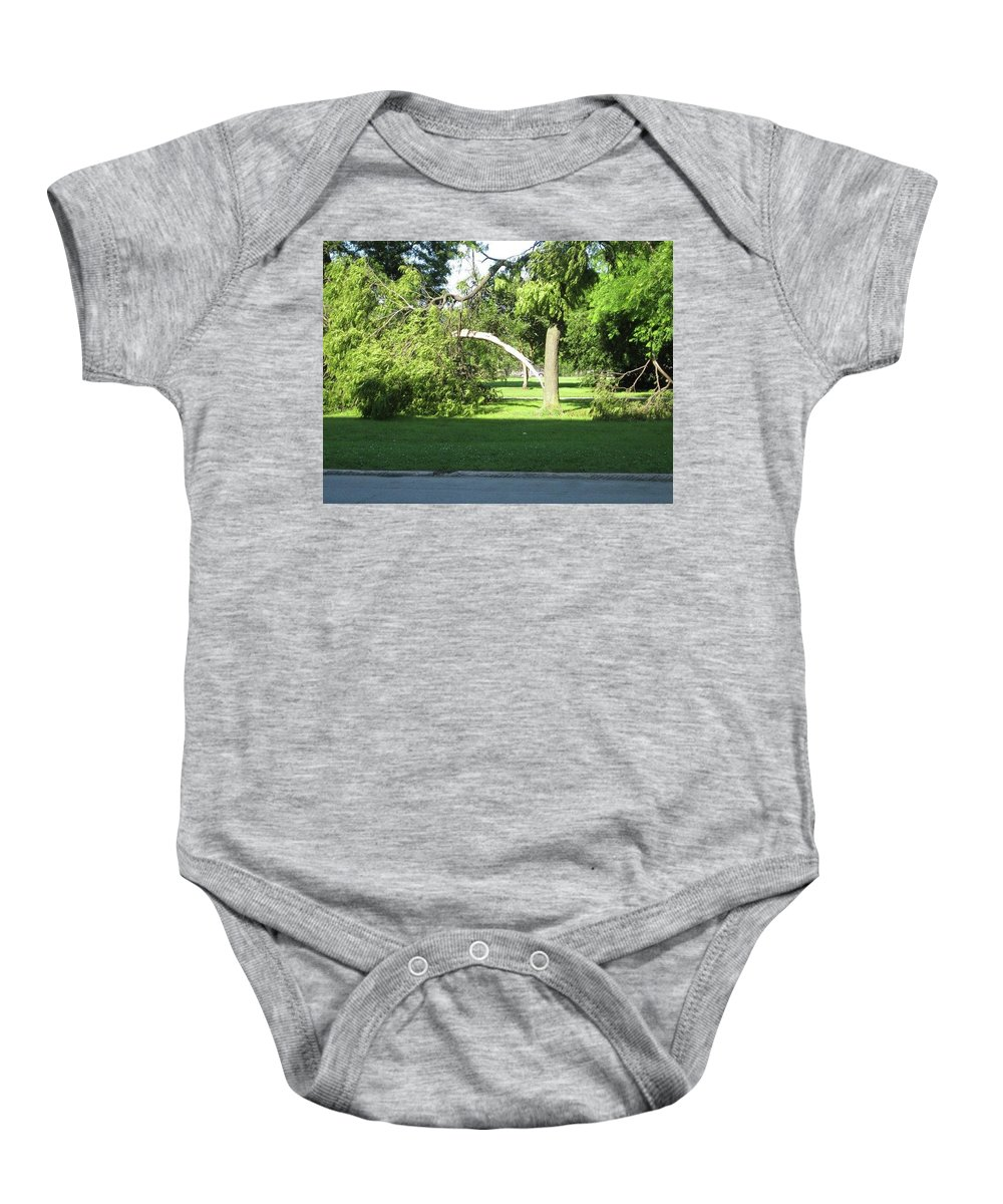 Baby Onesie featuring the photograph Lightning Strike by Rocky Washington