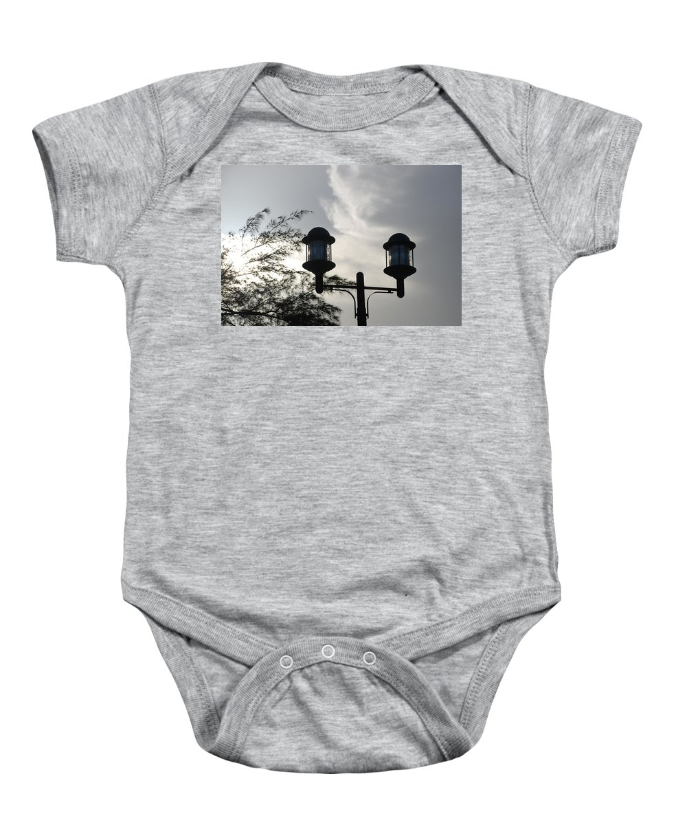 Sunset Baby Onesie featuring the photograph Lights In The Sky by Rob Hans