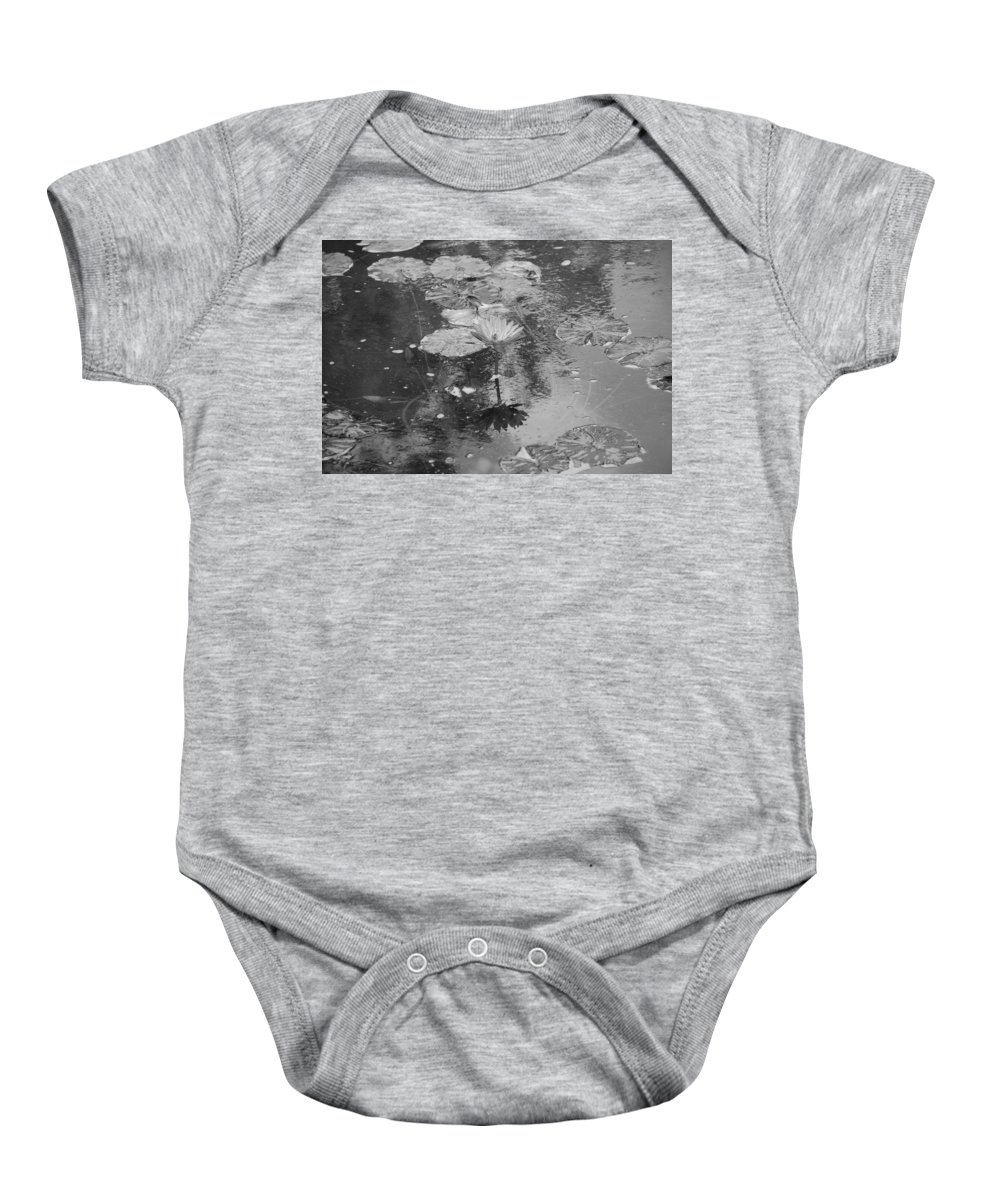 Lilly Pond Baby Onesie featuring the photograph Lilly Pond by Rob Hans