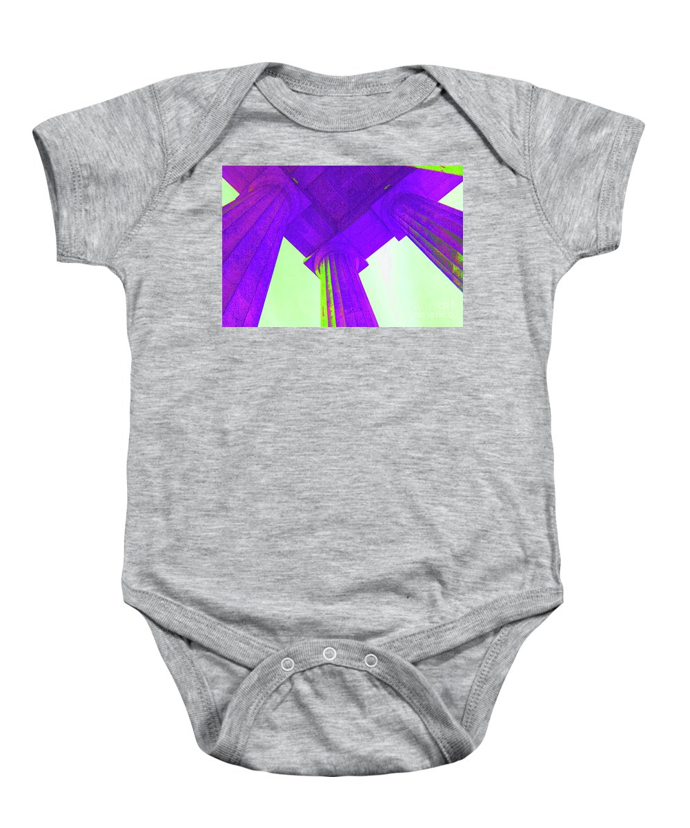 Lincoln Baby Onesie featuring the photograph Lincoln Column Purple by Jost Houk