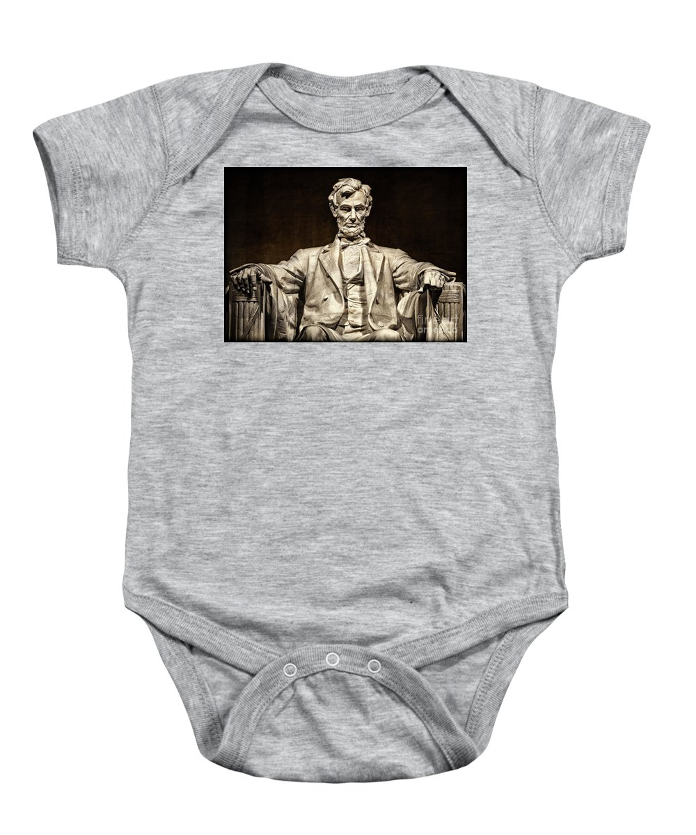 Lincoln Monument Baby Onesie featuring the photograph Lincoln Monument by Doug Sturgess