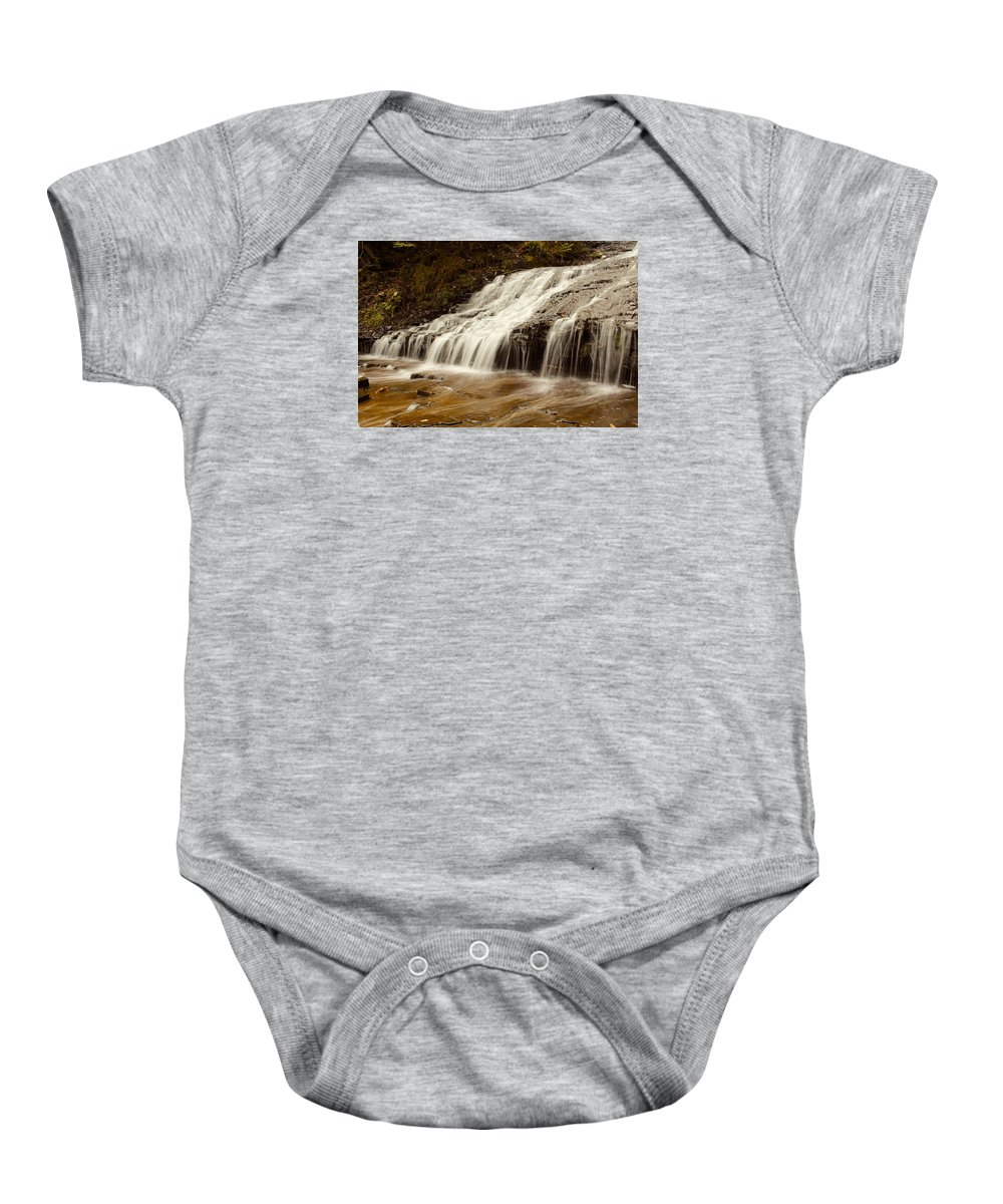 Kakabeka Baby Onesie featuring the photograph Little Falls by Nicholas Miller