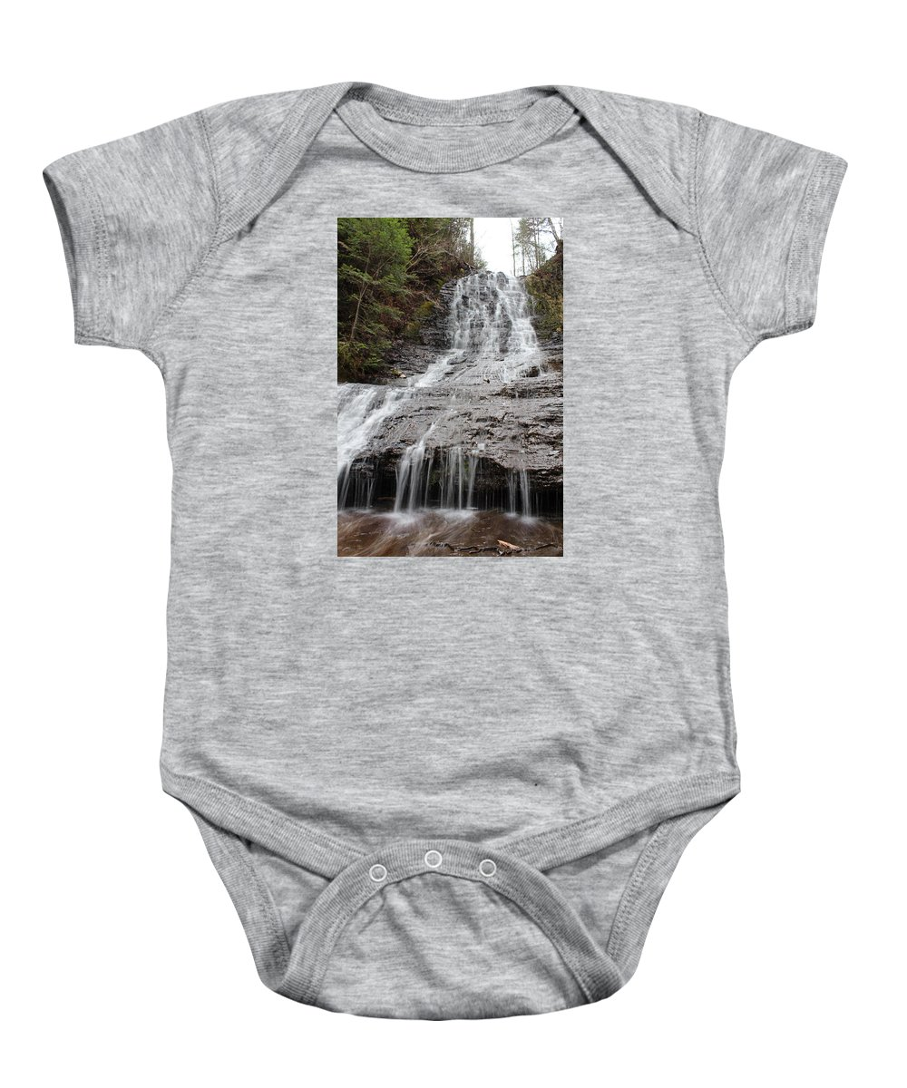 Kakabeka Baby Onesie featuring the photograph Little Falls Two by Nicholas Miller