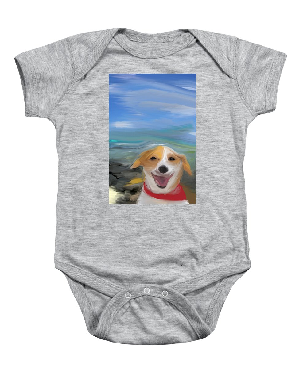 Dog Baby Onesie featuring the photograph Living The Dream by Trish Tritz