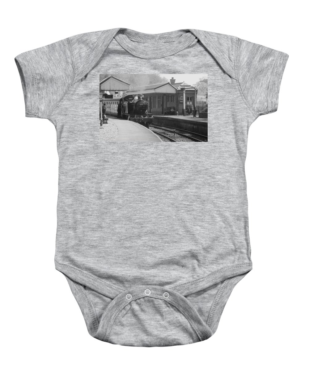 Llangollen Baby Onesie featuring the photograph Llangollen 5199 Bw by Brainwave Pictures