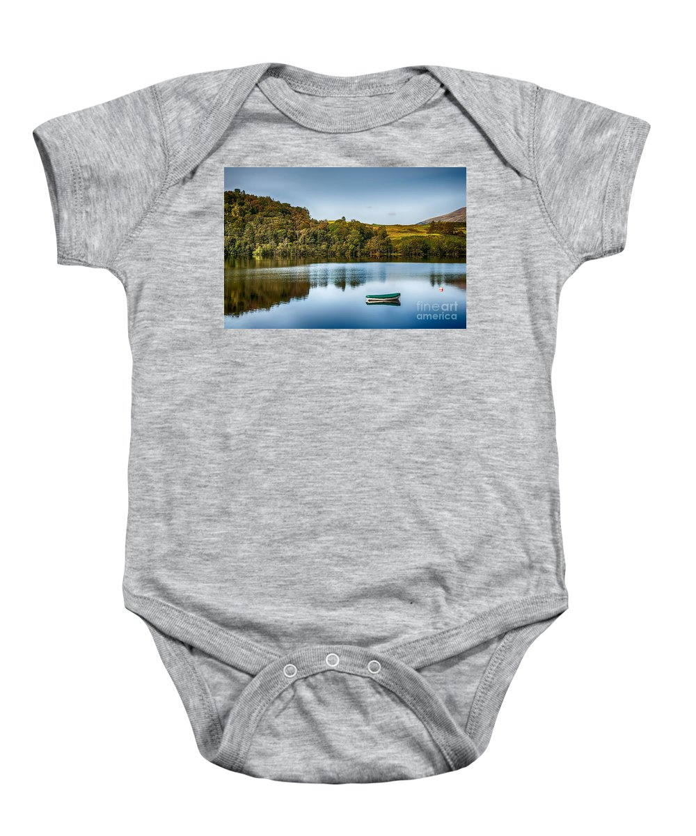 Loch Awe Baby Onesie featuring the photograph Loch Awe Reflections by Chris Thaxter