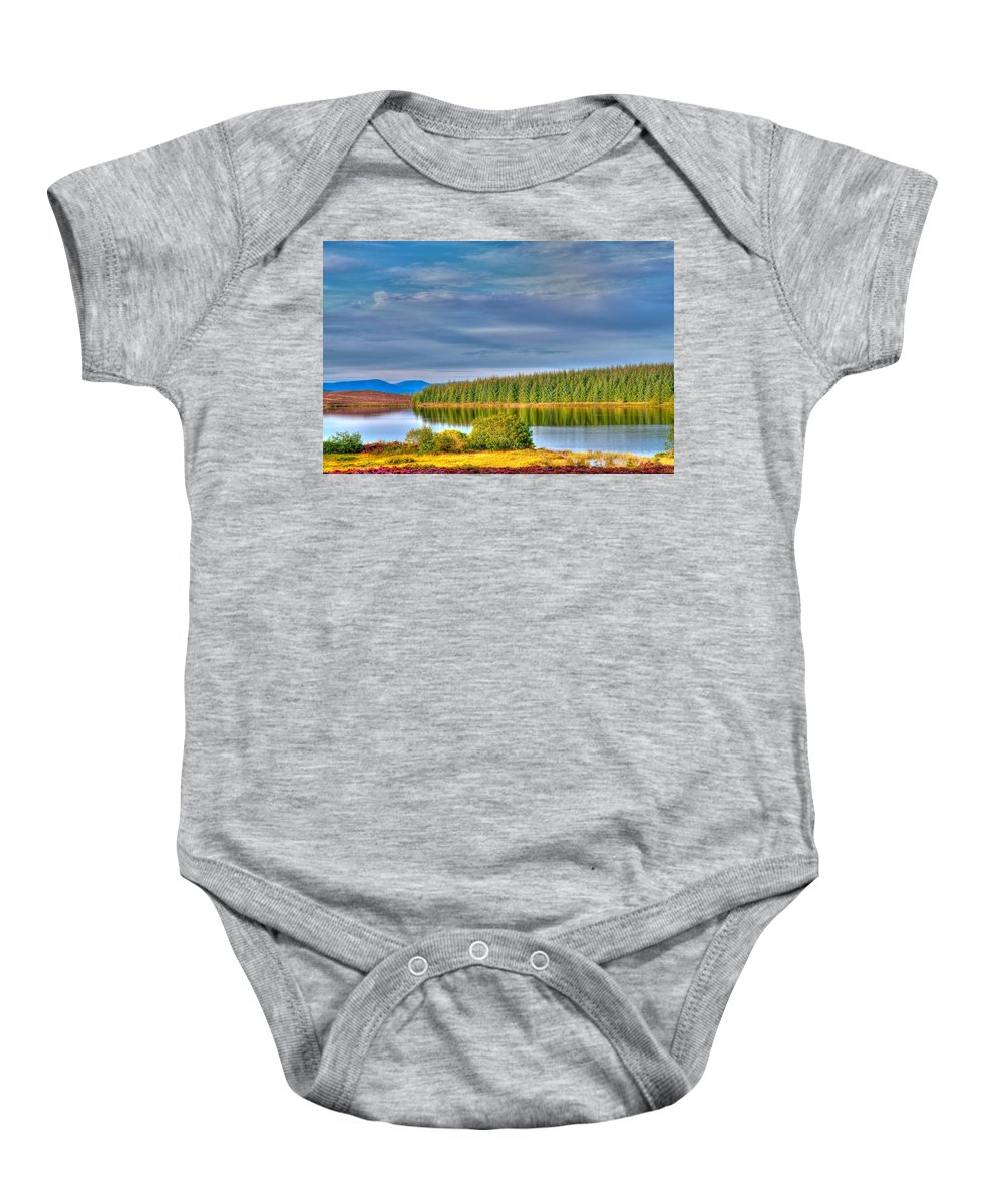 Loch Baby Onesie featuring the photograph Loch Kinardochy Reflections by Chris Thaxter
