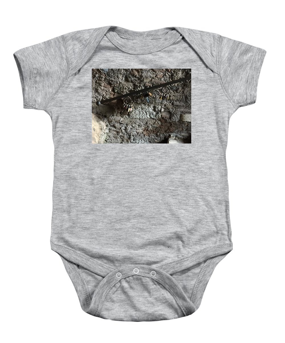 Locks Baby Onesie featuring the photograph Locked In Love by Nicole Prohaska