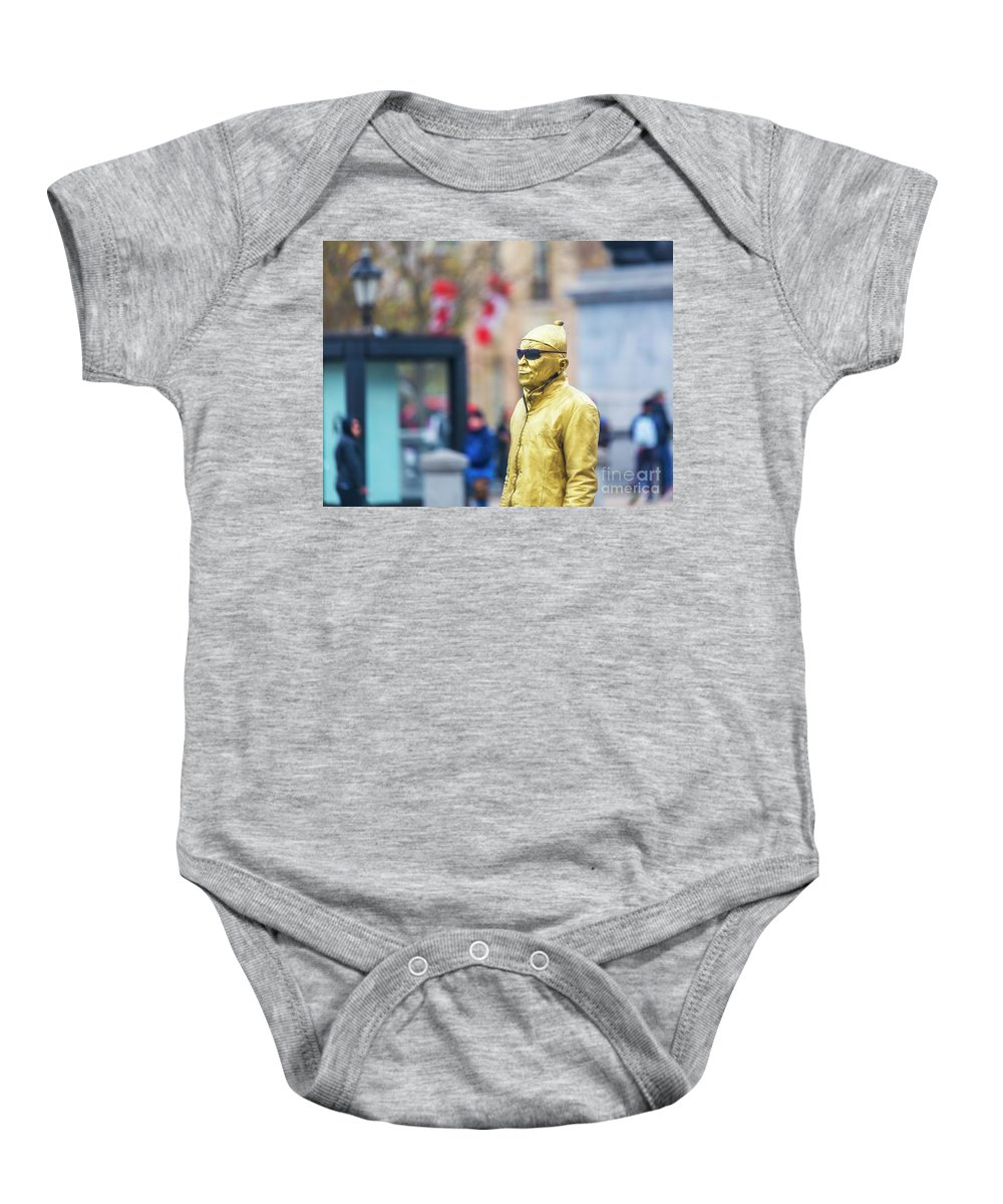 National Gallery London Baby Onesie featuring the photograph London Street Artists 2 by Alex Art and Photo