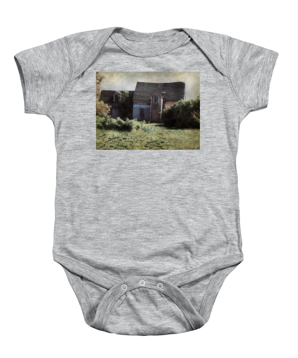 Landscape Baby Onesie featuring the painting Long Ago And Far Away by RC DeWinter