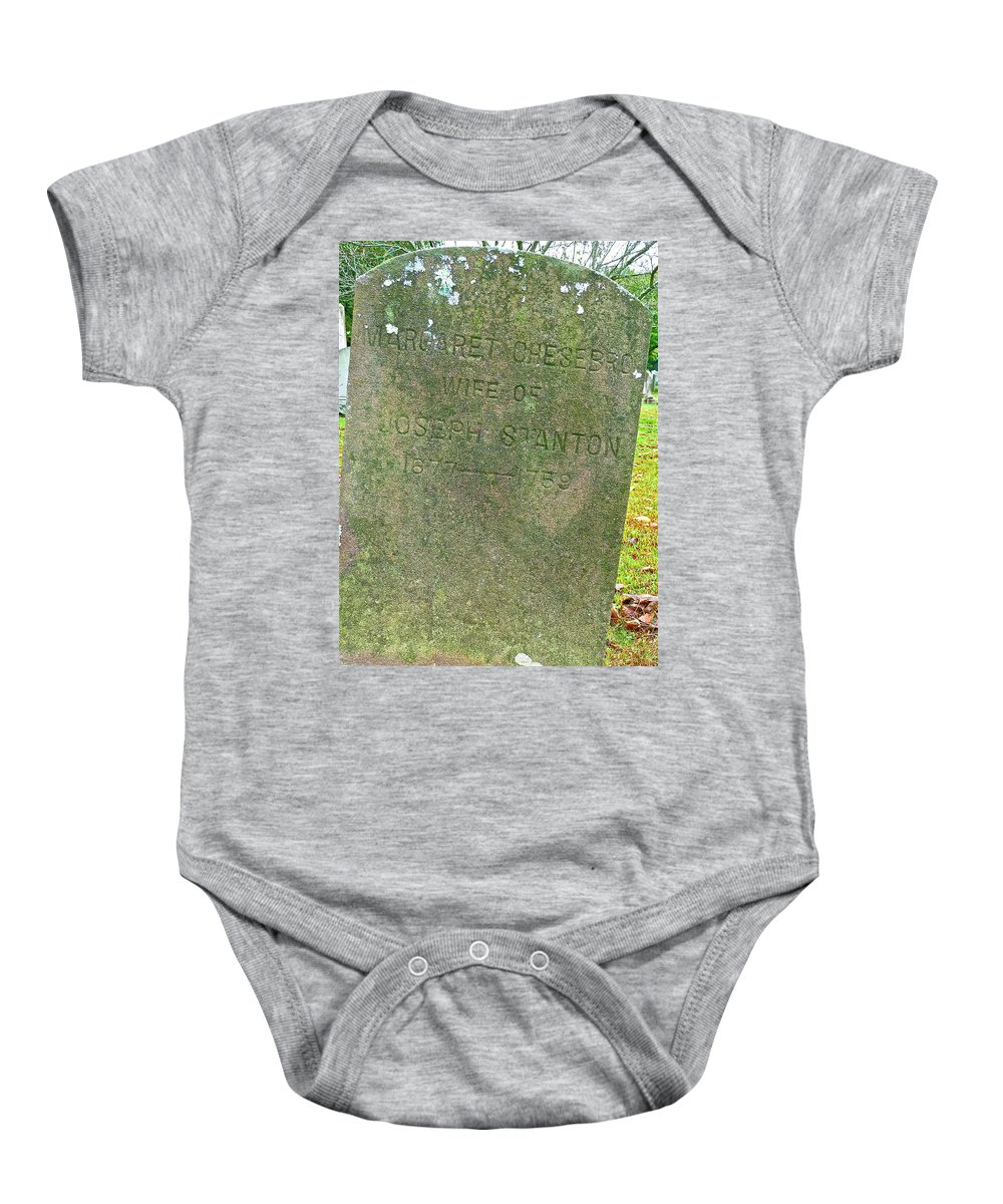 Cemetery Baby Onesie featuring the photograph Long Ago by Diana Hatcher